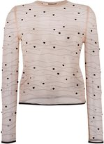 Alexander McQueen sheer knitted sweater
