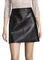 SET Studded Leather Mini Skirt