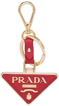 Prada Logo Plaque Keychain