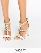 Asos HENDERSON Bridal Wide Fit Embellished Heeled Sandals