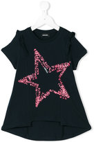 Diesel star ruffle T-shirt - kids - Cotton - 8 yrs
