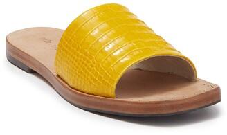 Freda Salvador Jessa Croc Embossed Leather Sandal