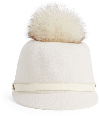Canadian Hat Fox Fur Pom-Pom Cap