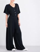 Madeleine Thompson Tie-waist knitted cashmere jumpsuit