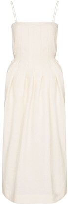 Three Graces Lucia pleated midi dress