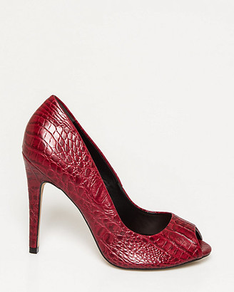 Le Château Brazilian-Made Faux Leather Peep Toe Pump