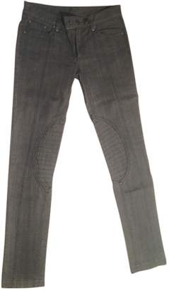 American Retro Grey Cotton Jeans for Women