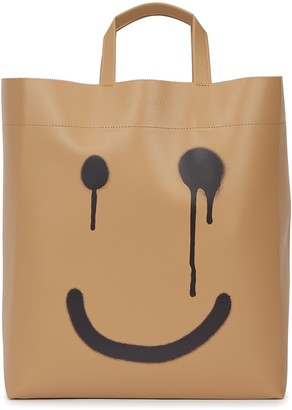 Balenciaga Happy/Not Happy printed leather tote