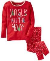 """Osh Kosh Girls 4-14 Jingle All The Way"""" Christmas Pajama Top & Bottom Set"""
