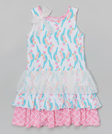 Flap Happy Parrotise Tessa Triple Ruffle Dress - Toddler & Girls