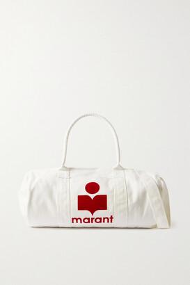 Isabel Marant - Nayogi Flocked Cotton-canvas Weekend Bag - Off-white