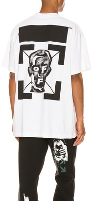 Off-White Masked Face Over Tee in White & Black | FWRD