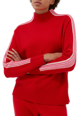 Chinti and Parker Contrast-Stripe Mock-Neck Sweater