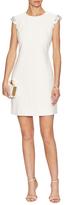 Kate Spade Embellished Sleeve Crepe Dress