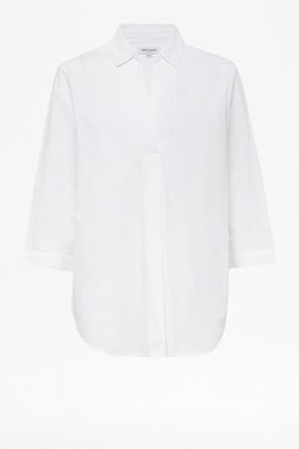 Alresford Linen Optic White Shirt - 12