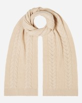 N.Peal Wide Cable Cashmere Scarf