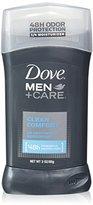 Dove Men + Care Deodorant Stick, Clean Comfort 3 oz (Pack of 4)