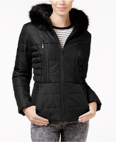 Celebrity Pink Faux-Fur-Trim Hooded Puffer Coat