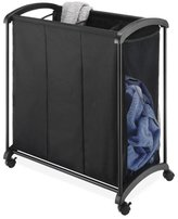 Whitmor 6396-4555 3-Section Laundry Sorter, Black