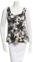 Marni Sleeveless Floral Print Top