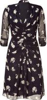 Anna Sui Black Marguerite Floral Print Dress