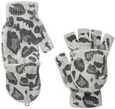 La Fiorentina Women's Animal-Print Flip-Top Gloves