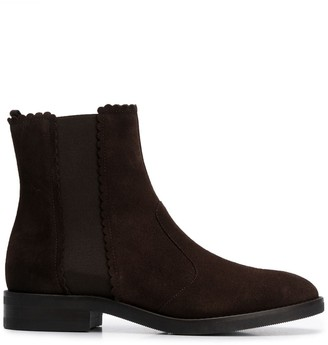 See by Chloe Scalloped Chelsea Boots