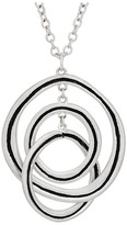 "The Sak Ribbed Orbit Pendant Necklace 28"""