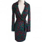 Diane von Furstenberg Green Cotton - elasthane Dress for Women