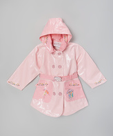 Kidorable Pink The English Roses Raincoat - Toddler