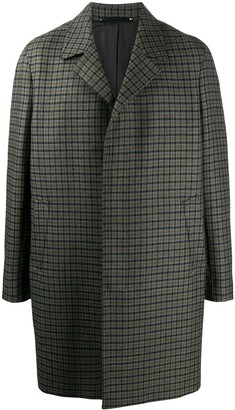Paul Smith Check Single-Breasted Coat