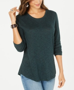 Style&Co. Style & Co Long-Sleeve Scoop-Neck Top, Created for Macy's
