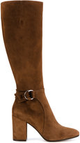 Gianvito Rossi side buckle boots - women - Leather/Suede/rubber - 38