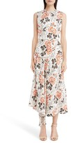 Victoria Beckham Women's Floral Print Midi Dress