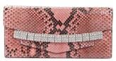 Calvin Klein 205W395Nyc Crystal Strap Genuine Python Clutch - Pink