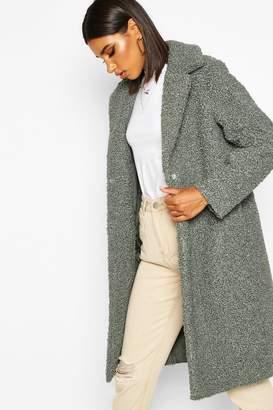 boohoo Bonded Teddy Faux Fur Longline Coat
