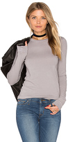Enza Costa Bold Long Sleeve Crew Neck Top