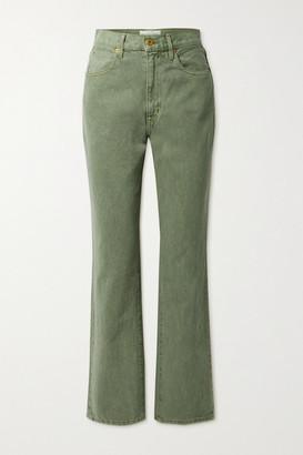 SLVRLAKE London High-rise Straight-leg Jeans - Green