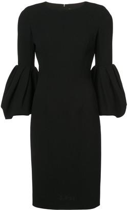Carolina Herrera bell sleeve dress