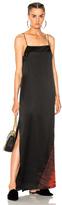 Raquel Allegra Ombre Column Gown in Black,Ombre & Tie Dye,Red.