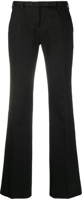 Helmut Lang Pre-Owned 2000s Pinstripe Bootcut Trousers