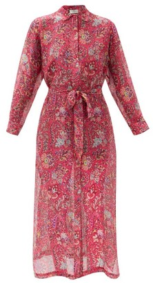 Etro Giannutri Paisley-print Cotton-blend Shirt Dress - Pink Multi