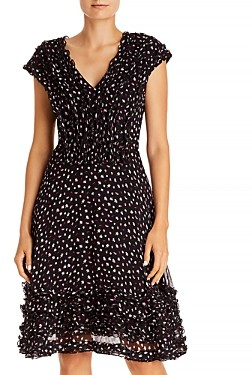 Jason Wu Floral Print Ruffled Dress