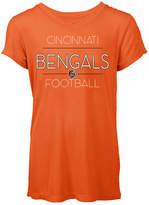 5th & Ocean Women's Cincinnati Bengals Rayon V T-Shirt