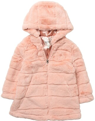 Urban Republic Faux Fur Zip-Up Coat