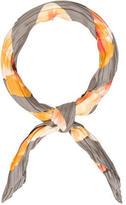 Salvatore Ferragamo Silk Pleated Scarf