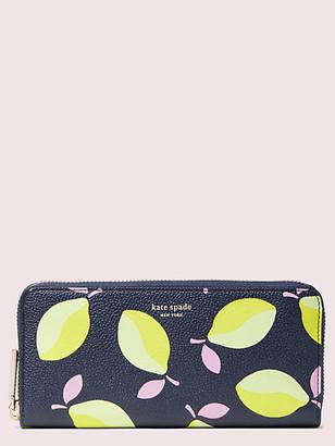Kate Spade Margaux Lemons Slim Continental Wallet