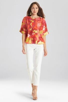 Natori Watercolor T-Shirt Top