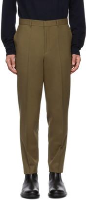 HUGO Khaki German Solid Trousers