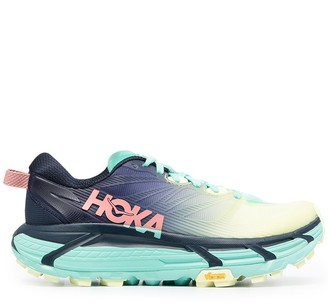 Hoka One One Clifton ombre-print sneakers